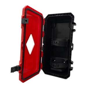 fire extinguisher box red safeload upright